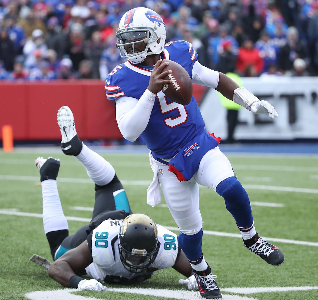 Nathan Peterman Draft Profile >> Tyrod Taylor remains heavy favorite for Bills starting QB job   PFF News & Analysis   Pro ...